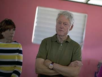 Former US President Bill Clinton in Haiti to visit projects