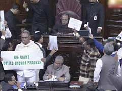 Amid chaos and slogans, Rajya Sabha clears Telangana bill