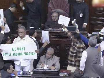 Amid chaos and slogans, Rajya Sabha clears Telangana bill