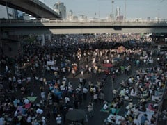 Thai protesters join final anti-government march before election