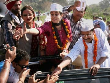 Arvind Kejriwal campaigns for Gul Panag in Chandigarh
