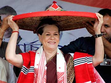 Sonia Gandhi attacks the BJP for 'talking big'