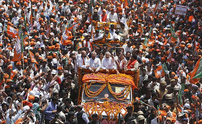Varanasi at his side, Narendra Modi delivers biggest road-show in world's largest election