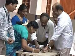 Rajinikanth was the first voter in this polling station, mind it