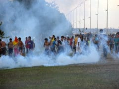 Brazil Police Fire Tear Gas at World Cup Protesters