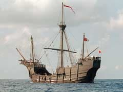 Columbus' Ship Discoverer Hopes for Help from Spain, Haiti
