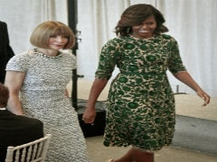 US First Lady Michelle Obama Opens Anna Wintour Costume Center