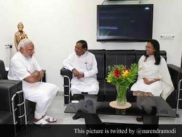 Former Lok Sabha Speaker PA Sangma calls on Narendra Modi