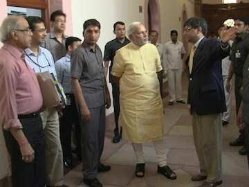When PM Narendra Modi 'Took a Round' of His Office