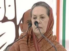 "Sonia Gandhi Repeats ""Neech Rajniti"" Jibe at Narendra Modi"