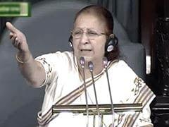 40 लोग, 440 लोगों के अधिकार नहीं मार सकते : कांग्रेस पर भड़कीं लोकसभा अध्यक्ष सुमित्रा महाजन