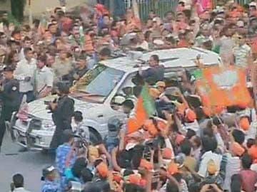 Massive Crowds Throng Narendra Modi's Roadshow in Varanasi: Latest Developments