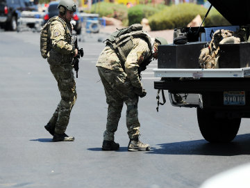 Two Officers, Three Others Dead in Las Vegas Shooting