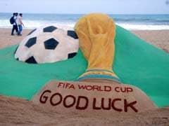 Bhubaneswar: Sand Artist Creates Sculptures on Football World Cup