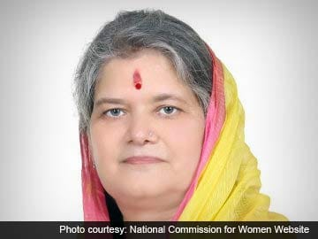 National Commission for Women Chairperson Supports Government's Stand on Juvenile Rapists