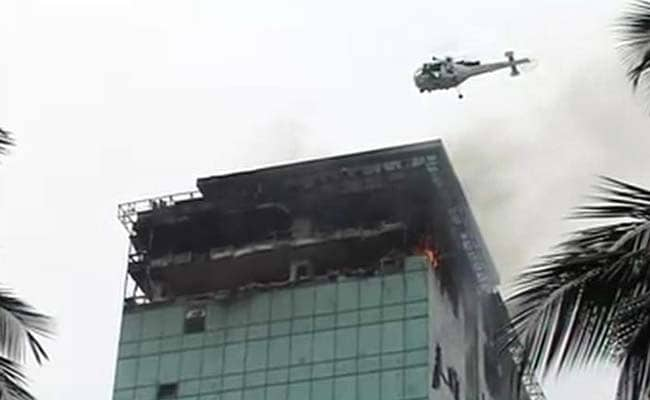Chopper Airlifts Fireman From Burning Mumbai High-Rise; One Dead