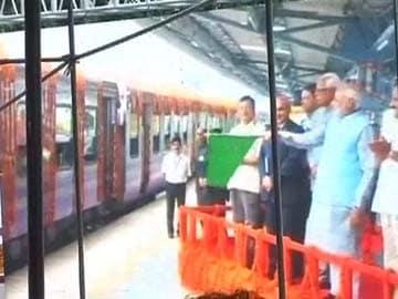 Narendra Modi Begins First Visit to J&K as PM, Flags off Train for Vaishno Devi Pilgrims