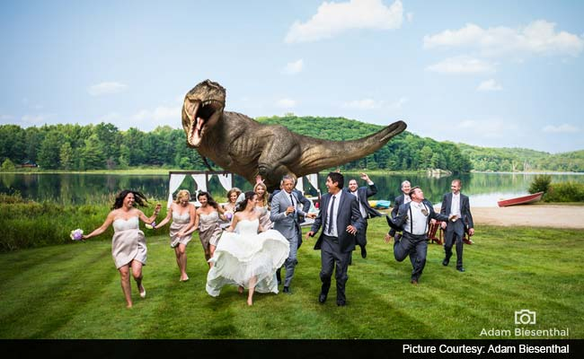That Epic Moment When Wedding Guests Got Chased by a 'Dinosaur'