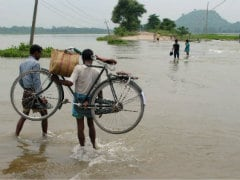 Assam River Flowing in High-Flood Situation