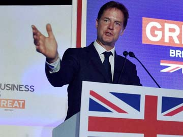 British Deputy Prime Minister Nick Clegg Visits Hospital in Mumbai