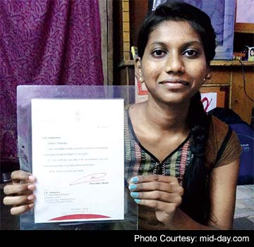 Pm replies to mumbai hsc student praising her handwritten letters spiritdancerdesigns Image collections