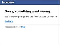 Facebook Is Down: 'Sorry, Something Went Wrong'