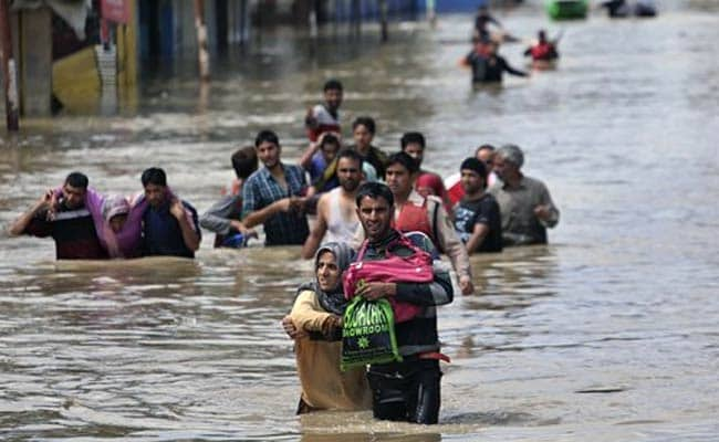 Water 12 Feet Deep in Many Parts of Srinagar