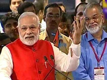 We Have Gone Beyond Boundaries of Human Imagination: PM Modi at ISRO