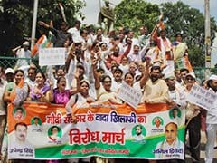 100 Days of PM Modi Government: Congress Leaders Stage Protest on 'Failed Promises'