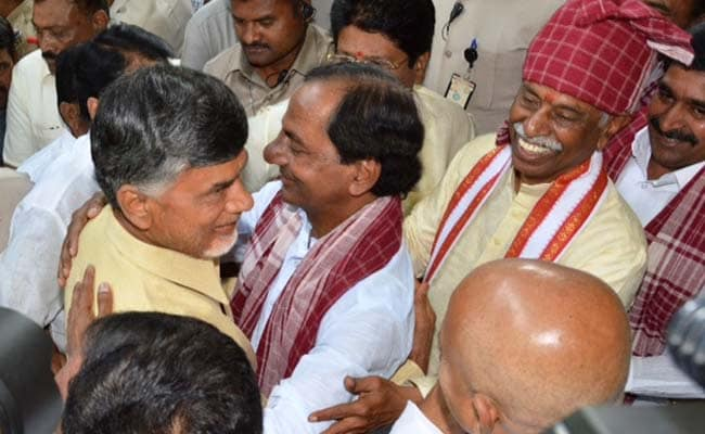 When Chief Ministers of Telangana and Andhra Pradesh Hugged Each Other