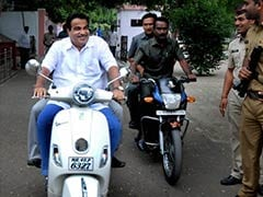 Transport Minister Nitin Gadkari Rides A Scooter, Courts Controversy