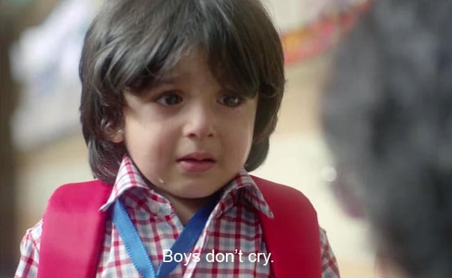 Don't Tell Your Son That 'Boys Don't Cry,' Tell Him This Instead