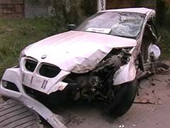 Bmw Breaks Into Three Pieces In Ludhiana After Hitting Tree