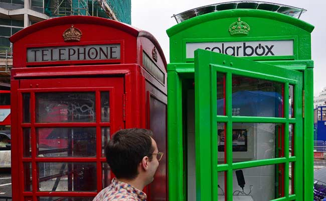 London Turns its Classic Red Phone Boxes Green