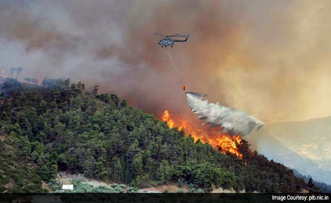 Air Force S Bambi Bucket Helps Control Raging Forest Fire