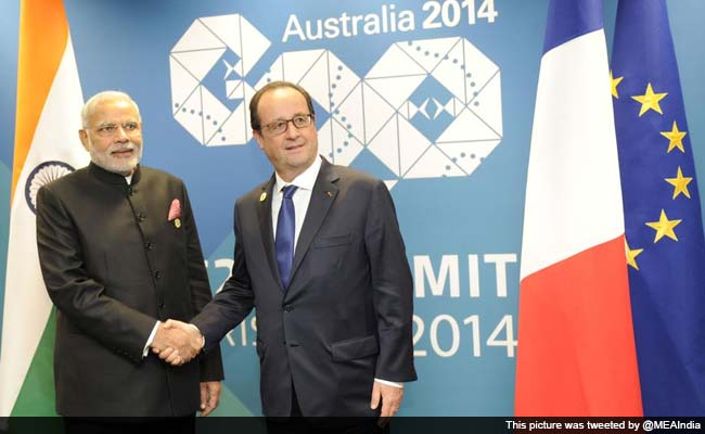 PM Narendra Modi Meets French President Francois Hollande, Calls For Common Fight Against Terror