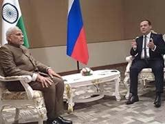 PM Modi Meets Russian Prime Minister Dmitry Medvedev