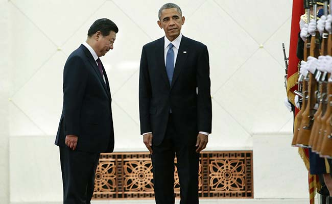 US President Barack Obama and Chinese Counterpart Xi Jinping Discuss Investment Pact