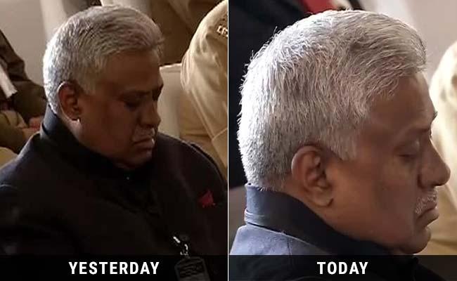 CBI Chief Caught Snoozing Again, Now During PM Modi's Speech