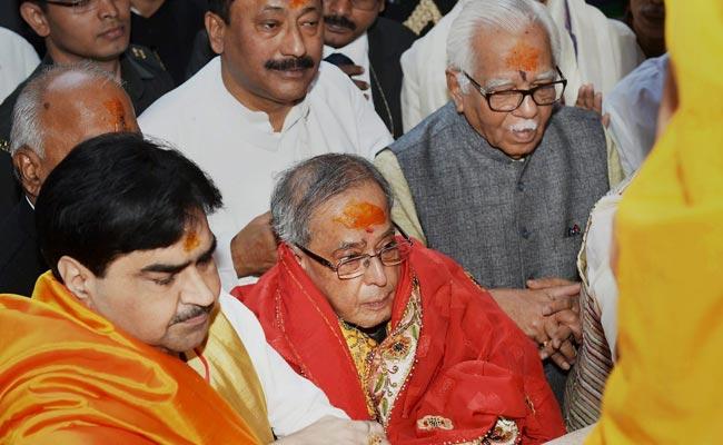 President Pranab Mukherjee Hopes Vrindavan Will be World Centre of Spiritual Enlightenment