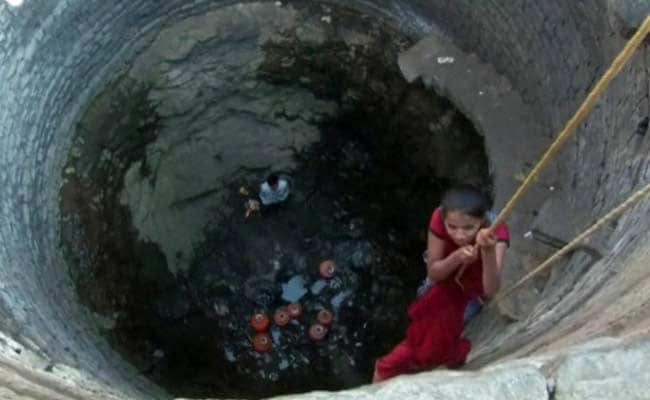 Children Skip School to be Lowered into Wells to Fetch Water