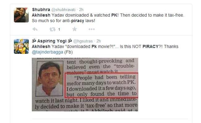 PK #Piracy? Akhilesh Yadav 'Downloads' a Controversy