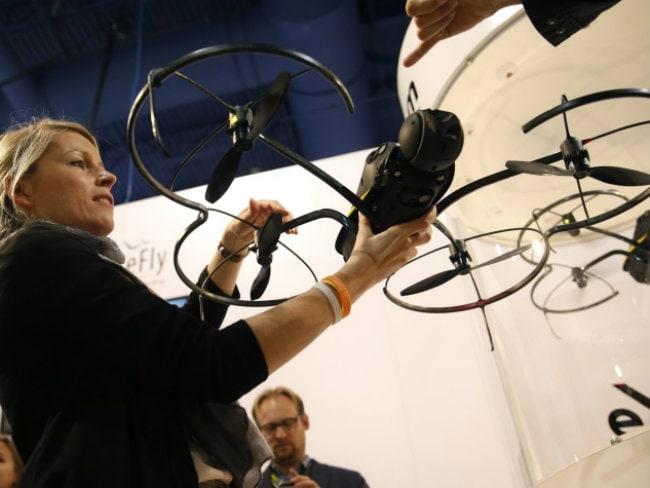 Drones, Flashy TVs Among Stars in Las Vegas Technology Show