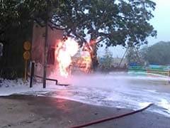 In South Delhi, Gas Pipeline Catches Fire