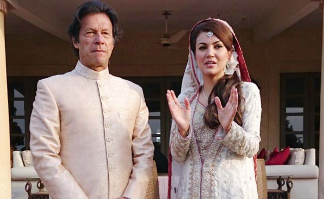 Image result for imran khan with his new wife