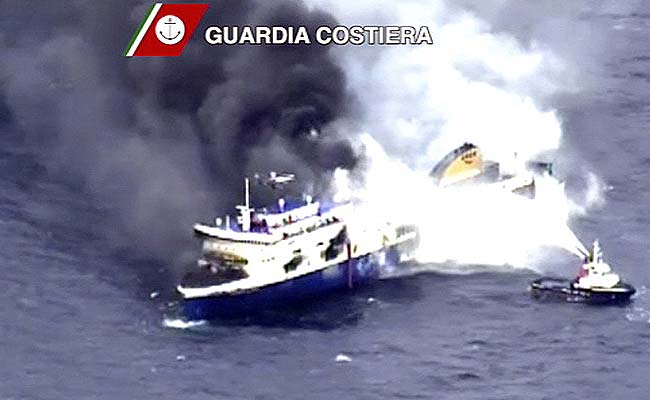 Migrant Ship Headed for Italy Stopped by Power Loss