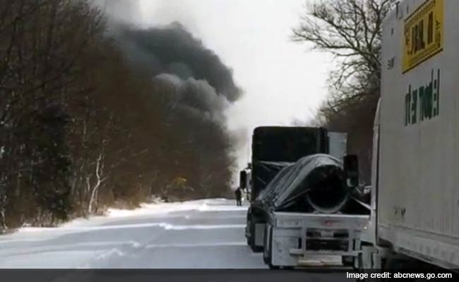 Massive Pile-up in Michigan, Vehicles on Fire