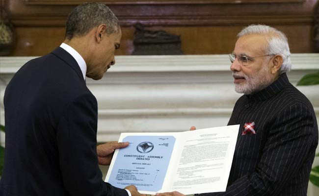 PM Narendra Modi Gifts Barack Obama Copy of US Telegram to Constituent Assembly
