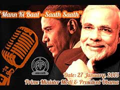 President Obama to Join PM Modi in 'Mann ki Baat' Radio Address