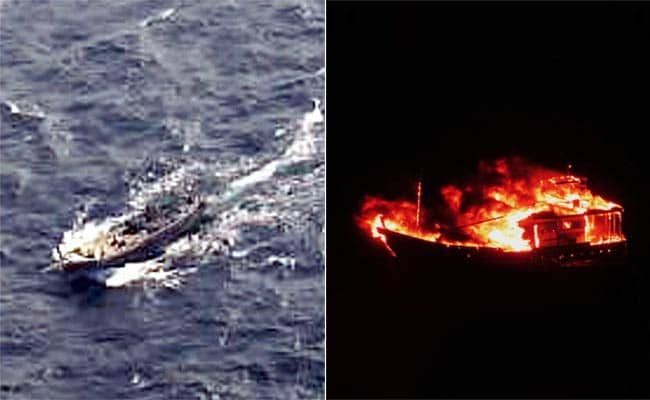 Pakistani Boat With Explosives Blows Up Off Gujarat Coast, Says Government